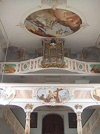 Unterwachingen Pfarrkirche Orgelempore.jpg