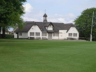 Uppingham School - School cricket pavilion by Walter Tapper, built as a war memorial in 1923