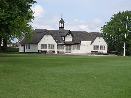 School cricket pavilion by Walter Tapper, built as a war memorial in 1923 Uppingham school cricket pavilion - geograph.org.uk - 1289475.jpg