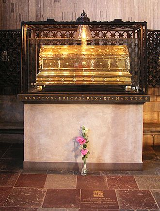 Eric IX of Sweden - Silver-gilt reliquary of Eric the Saint, Uppsala Cathedral