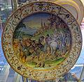 Urbino, bottega patanazzi, piatto a raffaellesche con cesare che libera prigioniero (da taddeo zuccari), 1580 ca..JPG