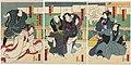 Utagawa Kunisada II - Actors Kawarazaki Gonjûrô I as Yohei, the Son-in-Law of the Furniture Store, Iwai Yonejirô I as Otake.jpg