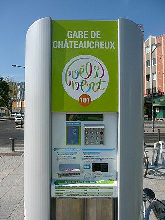 Vélivert - Image: Vélivert Gare de Châteaucreux