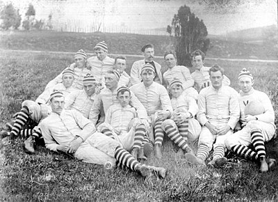 Virginia Tech's inaugural football team in 1892. VAMC92.jpg