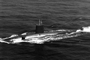 Valiant-class submarine - Image: Valiant class submarine 1986