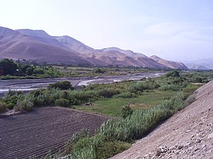 Osmore River - Moquegua Valley in Peru.