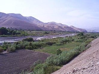 Osmore River - Moquegua Valley in Peru.