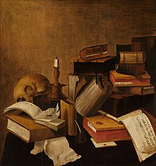 Vanitas Still Life with Books