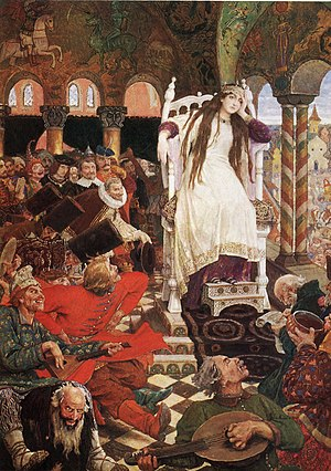 Boredom - The Princess Who Never Smiled by Viktor Vasnetsov