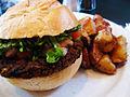 Vegetarian black bean burger with homefries.jpg