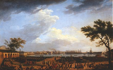 View of Toulon Harbour around 1750, by Joseph Vernet. Vernet-toulon-1.jpg