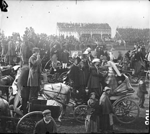 Horseracing in Ireland - Crowd at Punchestown Festival, circa 1868
