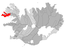 Location of the Municipality of Vesturbyggð