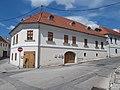 Veszprém 2016, műemlék, későbarokk sarokház, Szent István utca 1, Esterházy utca.jpg