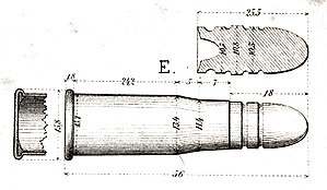 Rimfire ammunition - Cartridge Vetterli Ord. Suisse 1869