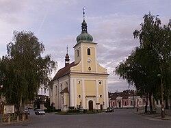 Veverská Bítýška kostel sv. Jakuba.JPG