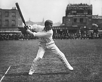 "Victor Trumper - ""Jumping out for a straight drive"", George Beldam, c. 1905 – arguably the most famous photograph in the history of cricket"