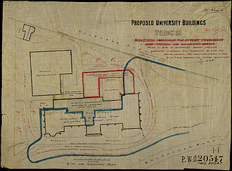Victoria University of Wellington - The original 1903 plan for Victoria University