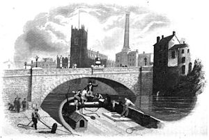 Victoria Bridge, Manchester - A contemporary illustration of the new bridge