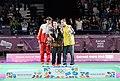 Victory Ceremony Girls Singles Badminton 2018 YOG (52).jpeg