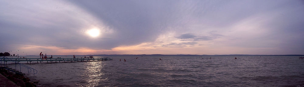 View of Lake Balaton from Siófok. 2009.jpg