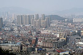 View of Lin'an City from Gongchen Hill, 2015-02-14.jpg