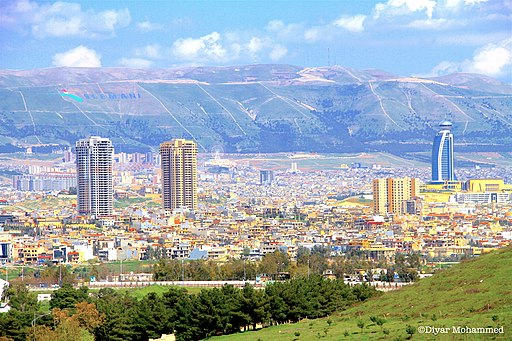 View of Sulaimani - Slemani - City in Southern Kurdistan in Spring 2016