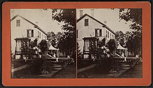 Essex, New York - View of a home in Essex circa 1875