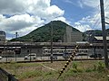 View of train in Mojiko Depot from Mojiko Station.jpg
