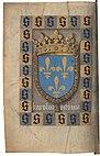 Vigiles de Charles VII, fol. Bv, Armes de France.jpg