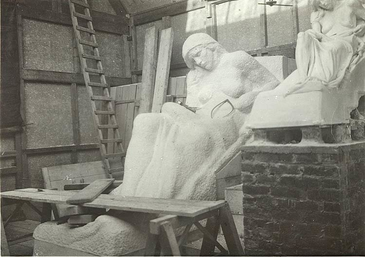 Vimy Memorial - half finished statue and plaster models