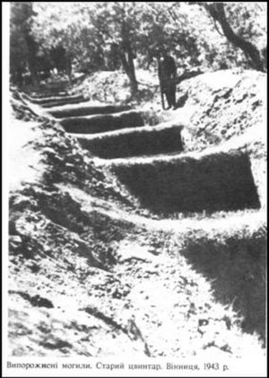 Vinnytsia massacre - Mass graves for the victims