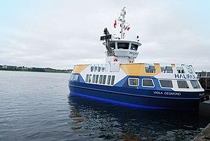 Halifax–Dartmouth Ferry Service - Image: Viola Desmond Ferry Launch...Mac Donald 2016