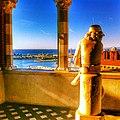 Vista dalla Sala Colombiana con la scutura di Cristoforo Colombo giovinetto realizzata da Giulio Monteverde.JPG