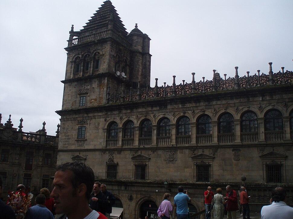 Vista de la Torre del Tesoro de la Catedral de Santiago de Compostela