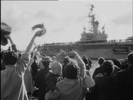 Bestand:Vliegkampschip ''Karel Doorman'' vertrekt voor vlagvertoon reis-507778.ogv