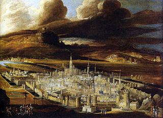 View of Metz from colline Bellecroix