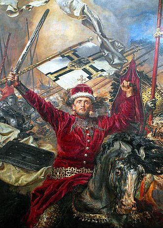 Vytautas - Vytautas the Great as shown on Jan Matejko's oil painting of the Battle of Grunwald