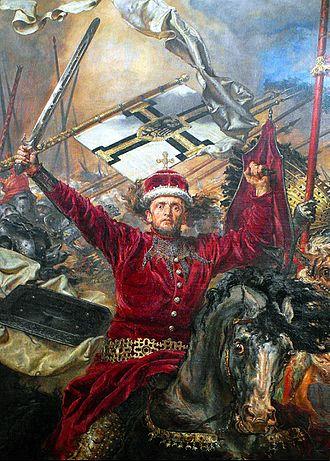 Battle of Grunwald (Matejko) - Image: Vytautas dydysis