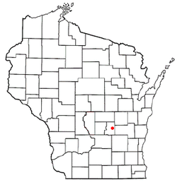 Location of Brooklyn, Wisconsin