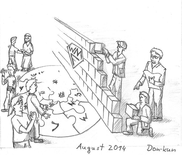 File:WMF building wiki wall in August 2014 caricature.jpg