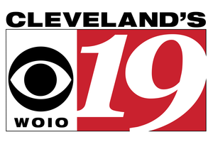 """WOIO - WOIO primary logo as """"Cleveland's CBS 19"""", used from 2002 to August 24, 2015."""