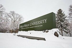 Walla Walla University - Image: WW Usign