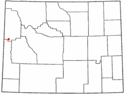 Location of Hoback, Wyoming