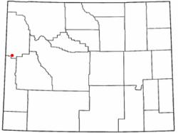 Luogo di Hoback, Wyoming