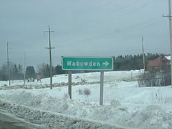 Sign for Wabowden, Manitoba, Canada