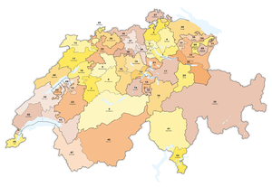 Swiss federal election, 1911 - The 49 electoral districts