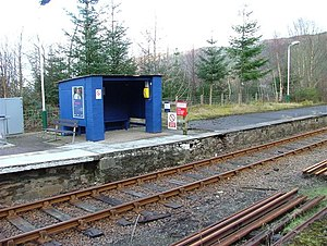 Stromeferry railway station - Image: Waiting Room geograph.org.uk 349008