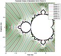 Wakes of Mandelbrot Set to Period 10.jpg