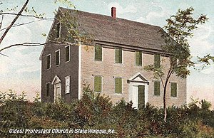 South Bristol, Maine - Image: Walpole Meeting House, Walpole, ME